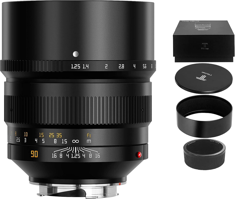 TTArtisan 90mm Luxury F1.25 ASPH Full Camera Fame Favored Max 43% OFF Length Focal