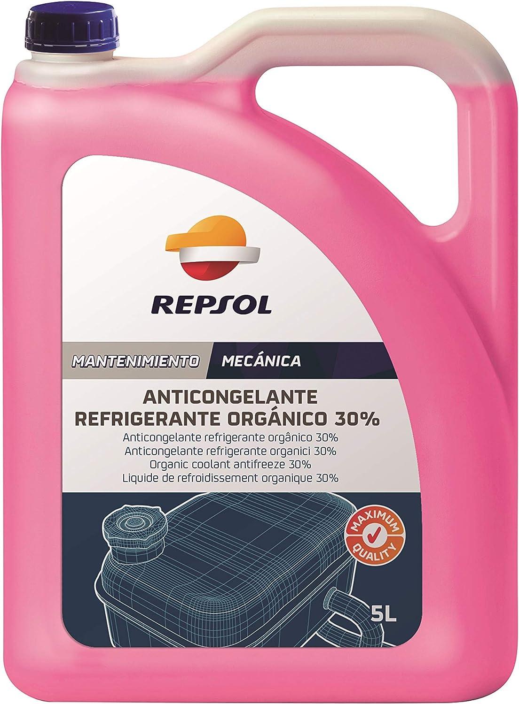 Repsol RP703U39 Anticongelante Refrigerante Orgánico 30%, 5 L: Amazon.es: Coche y moto