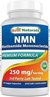 Best Naturals NMN Supplements Nicotinamide Mononucleotide 250mg per Serving, NAD Booster for Cellular Repair & Energy, 30 Veggie Capsules