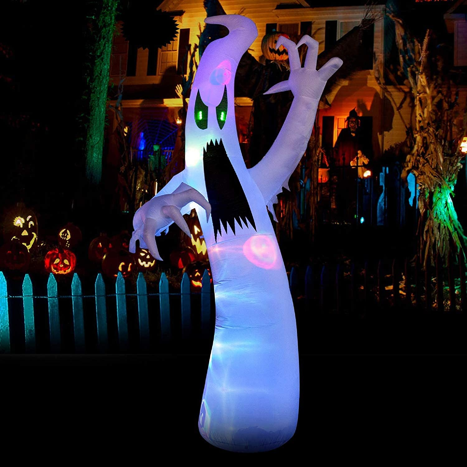 YIHONG 12 Ft Halloween Ranking TOP20 Inflatables Ghost Color 67% OFF of fixed price with Changi Scary