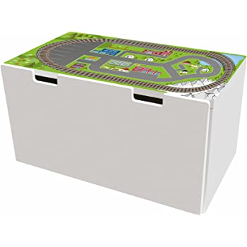 Train Stickers Furniture Stickers Btd04 Suitable For Children S Storage Bench Stuva From Ikea 90 X 50 Cm Ideal As A Toy Box And Play Table Amazon De Baby