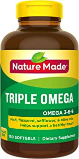 Nature Made Triple Omega 3-6-9 Softgels, 150 Count Value Size for Heart Health† (Packaging May Vary)