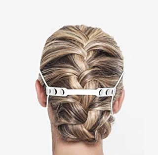5 FACE MASK STRAP (3 Black & 2 White), Facemask hook Reduces the pain and pressure of wearing a mask for a long hour, Ear ...
