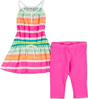 OshKosh B'gosh Little Girls 2-Piece Set 6 Coral, Dark Turquoise, Hot Pink, Mint, White & Yellow