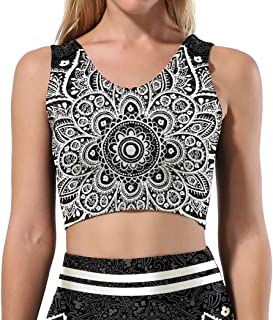 Multiple Women Fashion Print Stretchy Tank Crop Top Vest