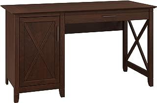 Bush Furniture Key West 54W Computer Desk with Storage in Bing Cherry