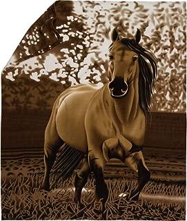 Horse Blanket Fleece Throw - 63x73 Premium Upgrade