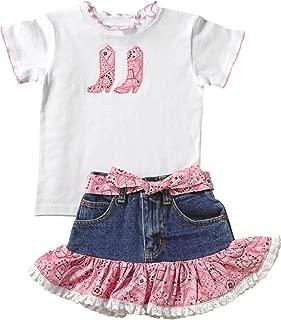 Kiddie Korral Toddler-Girls' Cowgirl Boot Bandana Skirt Set - 15
