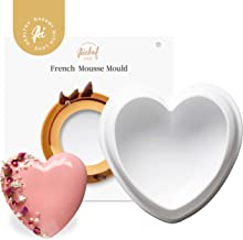AiChef Silicone Mold for Baking 6-inch Diamond Heart Mold Chocolate Mousse Cake Dessert Molds