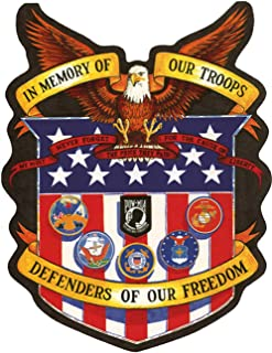 In Memory of Our Troops Defenders Of Freedom Large Motorcycle Vest Patch