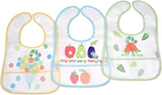 Eric Carle Very Hungry Caterpillar 3 Piece The Very Hungry Caterpillar Baby PEVA Water-Resistant Bib