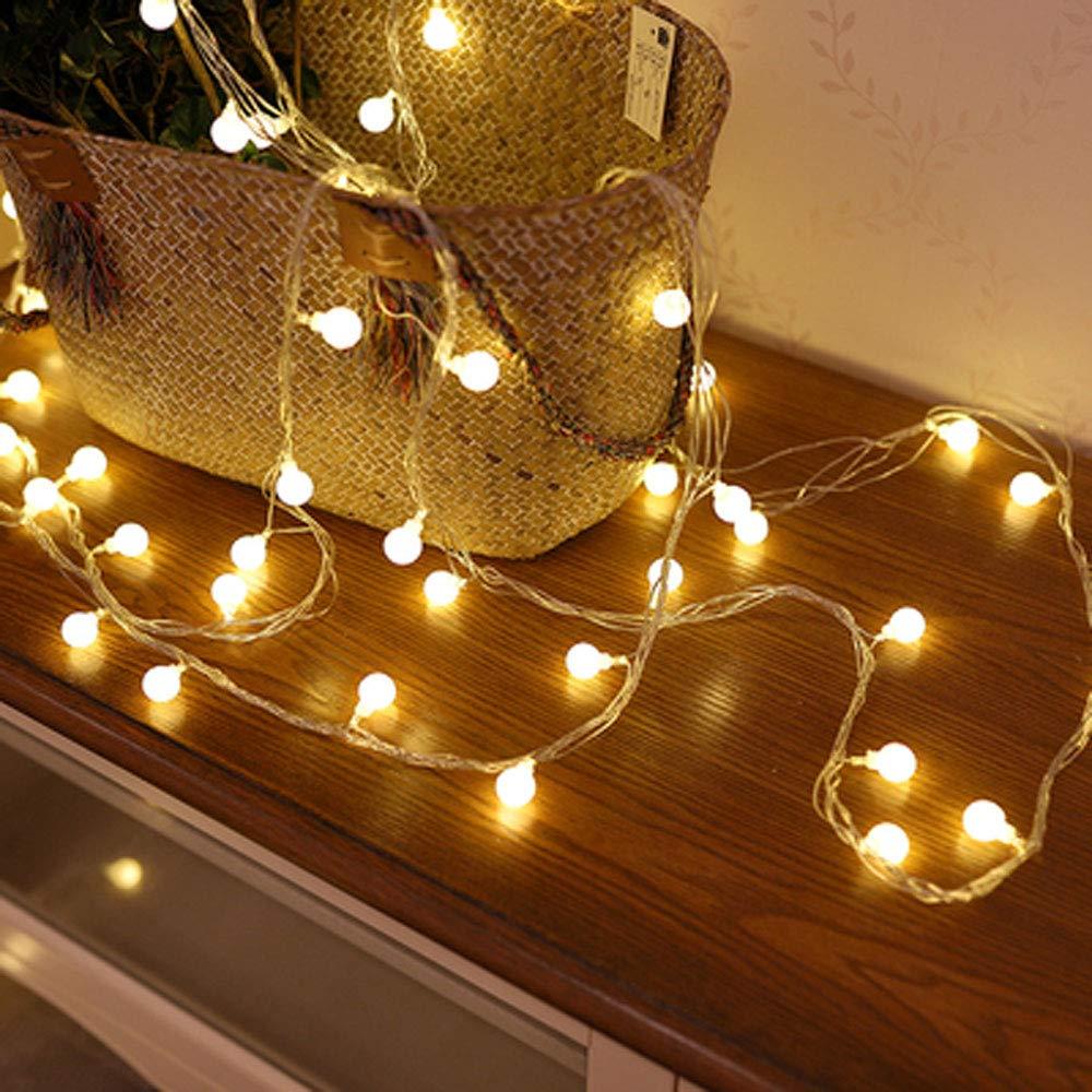 XBAO Cadena de Luces - Guirnalda LucesLED - Guirnalda Luces Pilas Estrella - Decoración Interior Jardines Casas Boda Fiesta de Navidad: Amazon.es: Hogar