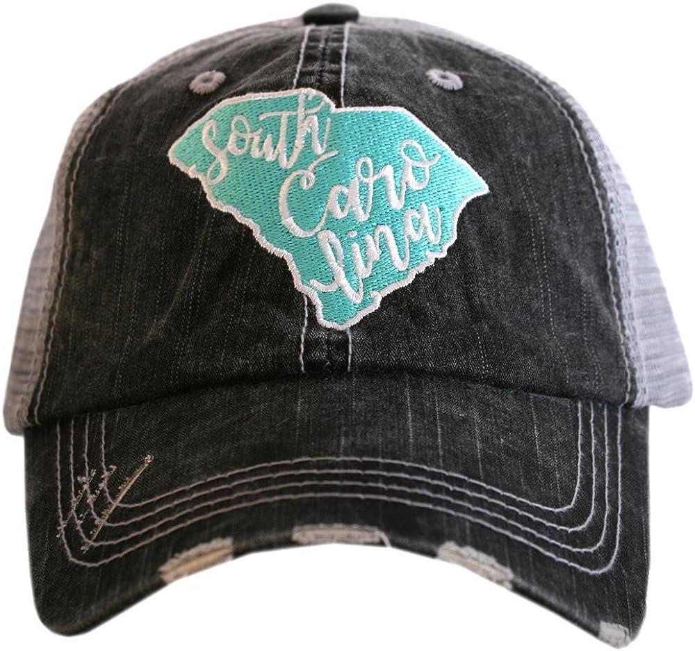 KATYDID South Carolina Cut Out State Baseball Hats Caps