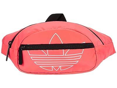 adidas Originals Originals National Waist Pack (Signal Pink/White) Handbags