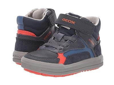 Geox Kids Jr Arzach 14 (Toddler) (Navy/Orange) Boys Shoes