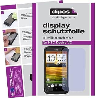 dipos skärmskydd filmer för HTC Desire V (paket med 2) - osynligt skärmskydd klart