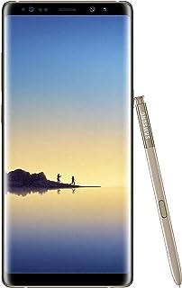 "Samsung Galaxy Note 8 SM-N950F/DS هاتف غير مغلق من المصنع - شاشة 6.3"" - 64 جيجابايت - إصدار عالمي - بدون ضمان (ذهبي فاتح)"
