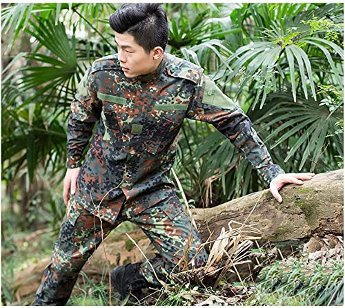 WZHCLOTHING Camouflage Suit Hommes Décontracté Deux-Veste Veste Veste Convient pour Jungle Caché Sports Alpinisme équitation Multi-Taille en Option (Taille   M)