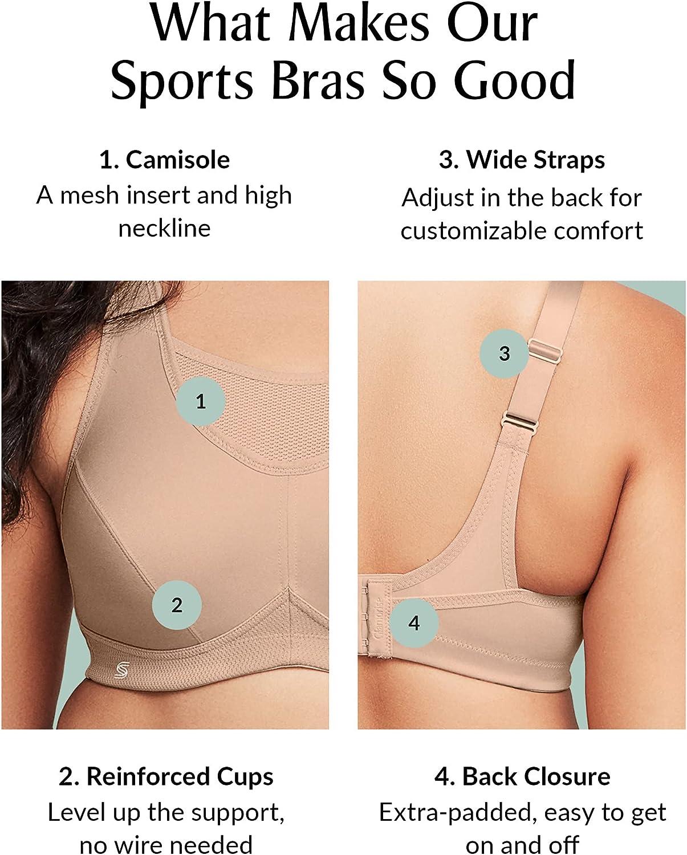 Glamorise Women's No-Bounce Camisole Sports Bra Wirefree #1066