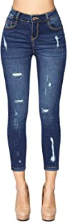 Blue Age Womens Destroyed Stretch Skinny Jeans Denim