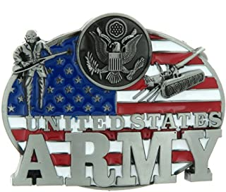 D DOLITY Western United States Army Men's Metal Belt Buckle Jeans Jewelry Accessories