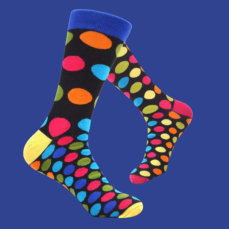 WeciBor Herren Bunt Beil/äufig Gemusterte Socken Gek/ämmte Baumwolle Lustig Neuheit Crew Socken