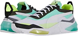 Puma White/Green Glimmer/Yellow Alert