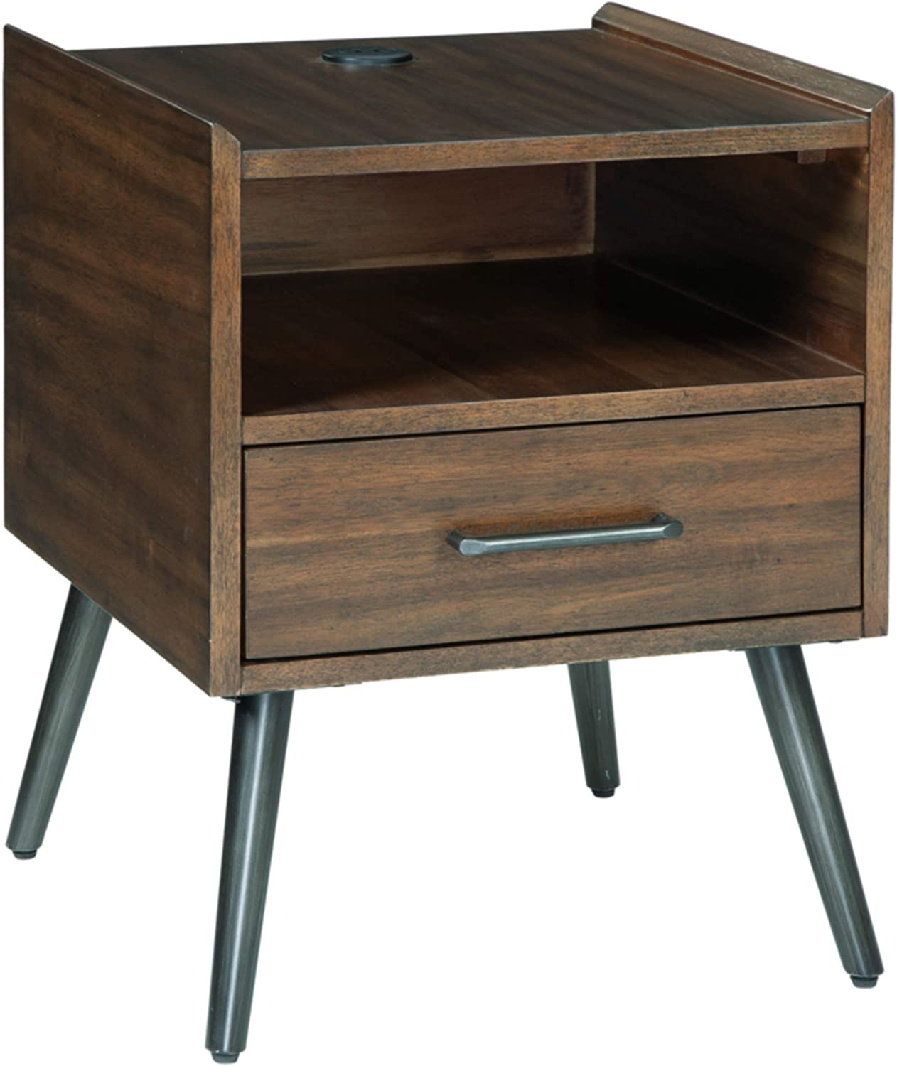 Signature Design Inexpensive by Ashley Store Calmoni End Square Mid-Century Table