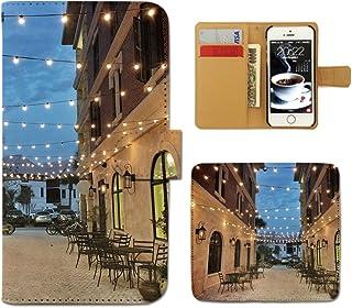 arrows Be4 Plus F-41B ケース 手帳型 coffee 手帳ケース スマホケース カバー コーヒー カフェ 海外 町並み 建物 E0256020118204