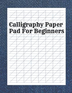 Calligraphy Paper Pad for Beginners: Calligraphy Stencils for Crafts, Grid Paper for Calligraphy, Manuscript Calligraphy Compendium Set