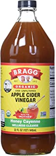Bragg Organic Apple Cider Vinegar Honey Cayenne Wellness Cleanse – Made with ACV, Honey, Lemon Juice & Cayenne - USDA Cert...