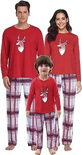 d93deffc51e9d Aibrou Ensemble de Pyjama de Noël pour Papa Maman Bébé Vêtements de Nuit Pyjamas  de noël