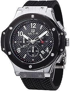 Men's Analogue Military Luminous Chronograph Quartz Watch with Stylish Sport & Business Strap
