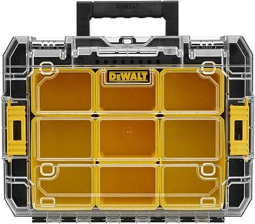 Dewalt DWST1-71194 DWST1-71194-Organizador con Tapa Transparente TSTAK V, Negro/Naranja