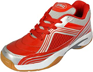 Hitmax PRO 2018 Sports Badminton Shoes for Men (Red)