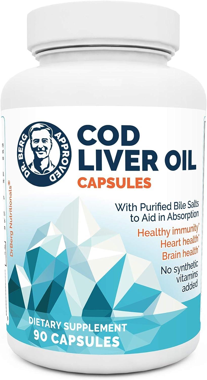 Dr. Berg's Cod Liver Oil - Latest item Source Acids Fatty New life 3 of Vitamin Omega