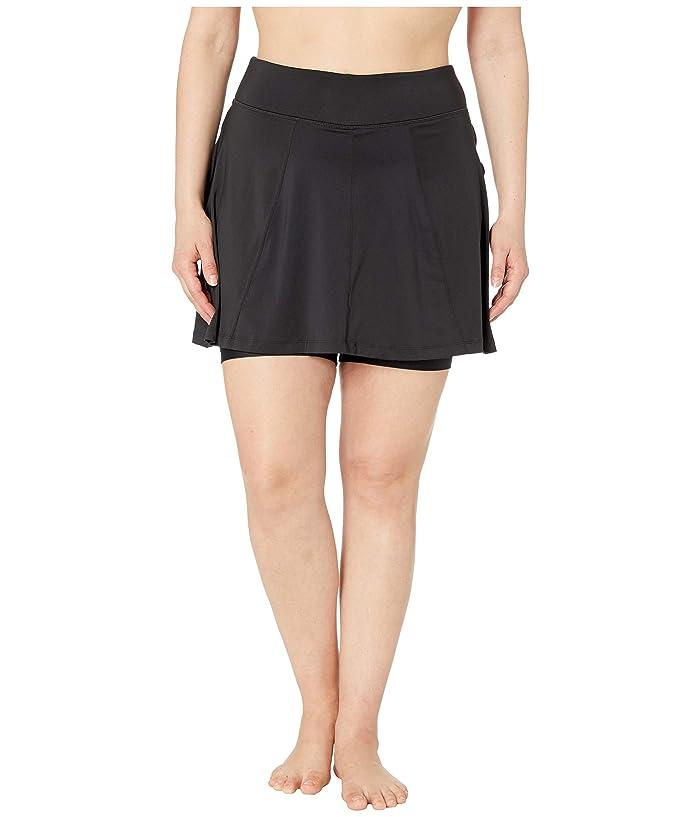 Skirt Sports Plus Size Free Flow Skirt (Black) Women