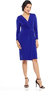 Maggy London Women's Novelty Crepe wrap Dress