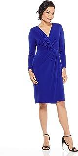 Maggy London Women's Novelty Crepe wrap Dress