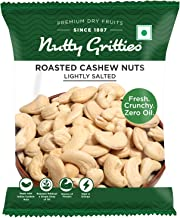 Nutty Gritties Roasted Cashews Nuts, Lightly Salted (Pack of 10-21g Each), 210g