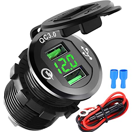 Qc 3 0 Auto Ladegerät Einbau Buchse Quick Charge 3 0 Elektronik