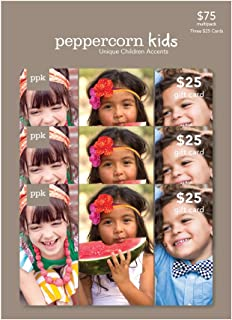 Peppercorn Kids Gift Card, Multipack of 3