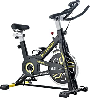 PYHIGH エアロバイク 静音 スピンパイク 16kgホイール 本格的トレーニング フィットネスバイク 家庭用 ダイエット器具 バイク 室内 エクササイズバイク 有酸素運動 トレーニングマシン 運動バイク 室内 トレーニング 自転車