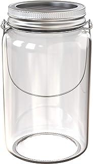 B.K.Licht Lampada solare a forma di barattolo, Lanterna LED in vetro per creare decorazioni personalizzate, Luce per cene ...