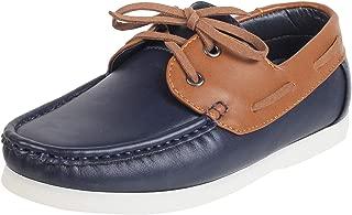 Mochi Boys Blue/Navy Synthetic Flat Shoes (46-5187)