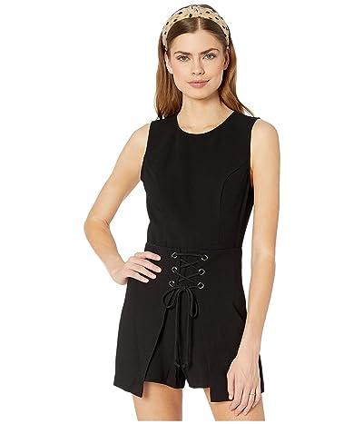 BCBGeneration Sleeveless Front Lace-Up Romper GEF9235464 (Black) Women
