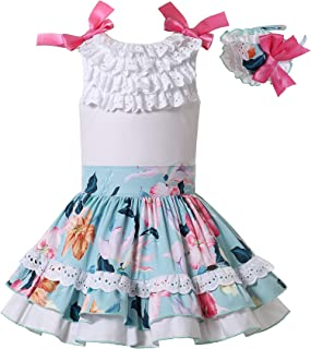 Girls Lovely Summer Sleeveless Floral Casual Dress Outfit...