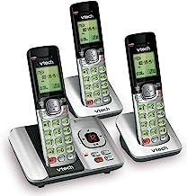 VTech CS6529-3 تلفن بیسیم قابل ارتقا 3 گوشی با سیستم پاسخگو - تماس گیرنده / تماس با انتظار و نور پس زمینه / صفحه کلید
