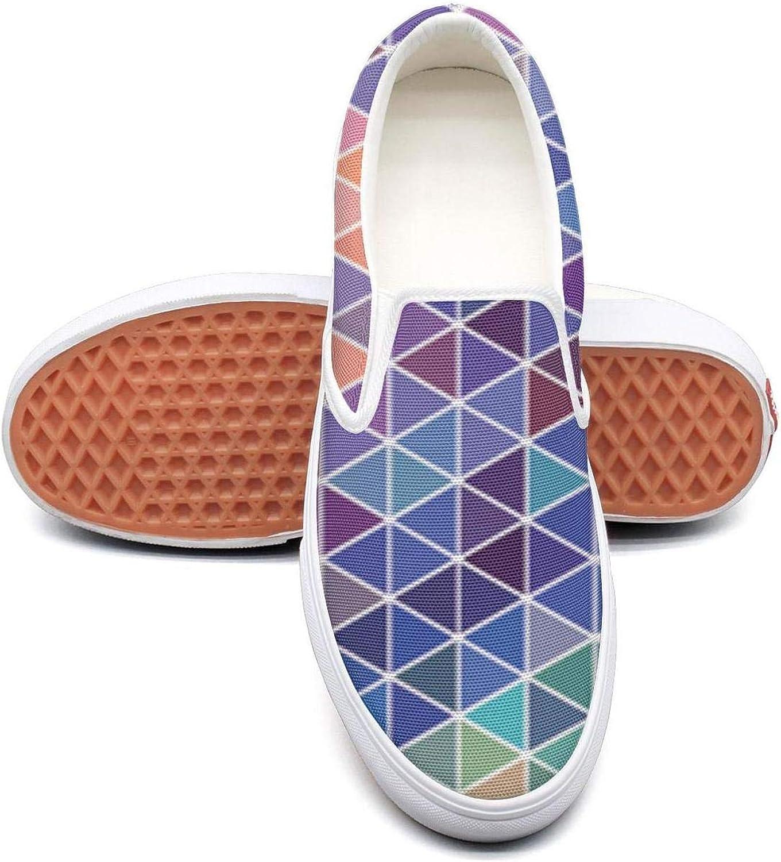 RegiDreae Canvas Slip on Sneakers for Women Neon Palm Trees Fashion Sneaker