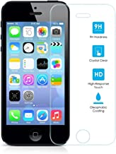 ELECTRÓNICA REY Protector de Pantalla para iPhone 5/5S/5C/SE Cristal Vidrio Templado Premium